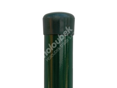 Plotový stĺpik zelený priemer 38 mm, výška 250 cm - Plotový sloupek zelený průměr 38 mm, výška 250 cm
