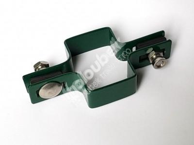 Príchytka zelená na sloup 60x40 mm priebežná