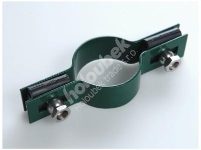 Príchytka plotového panelu na stĺpe 48 mm - priebežná, zelená