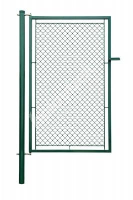 Bránka jednokrídlové záhradné výška 200 x 100 cm zelená na príchytky - Branka jednokřídlá zahradní výška 200 x 100 cm zelená na záklapku