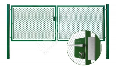 Brána záhradné dvojkrídlové výška 100 x 450 cm zelená na FAB Exklusiv - Brána zahradní dvoukřídlá výška 100 x 450 cm zelená na FAB Exklusiv