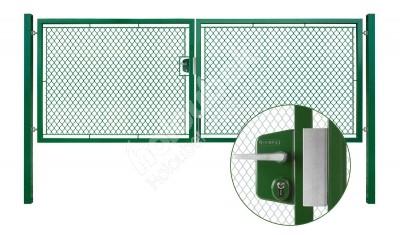 Brána záhradné dvojkrídlové výška 160 x 400 cm zelená na FAB Exklusiv - Brána zahradní dvoukřídlá výška 160 x 400 cm zelená na FAB Exklusiv