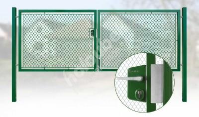 Brána záhradné dvojkrídlové výška 160 x 450 cm zelená na FAB Exklusiv - Brána zahradní dvoukřídlá výška 160 x 450 cm zelená na FAB Exklusiv