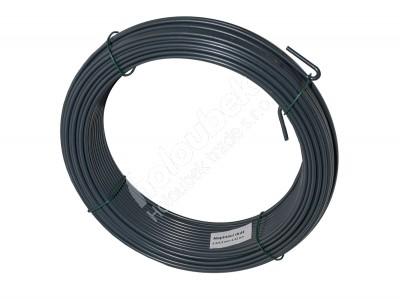 Napínací drôt poplastovaný 2,5/3,5 mm, zvitok 52 m - kopie - kopie - Napínací drát poplastovaný 2,5/3,5 mm, svitek 52 m, antracit RAL 7016