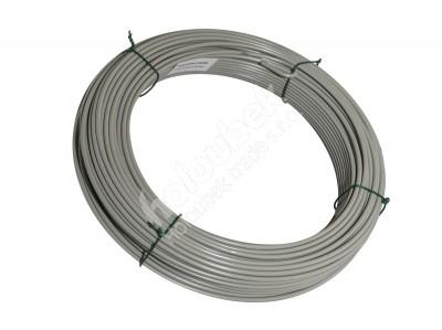 Napínací drôt poplastovaný 2,5/3,5 mm, zvitok 52 m - kopie - kopie - kopie - Napínací drát poplastovaný 2,5/3,5 mm, svitek 52 m, šedá RAL 7030