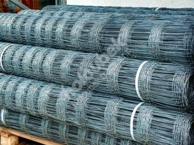 Lesnícke uzlové pozinkované pletivo 1600 mm, hr. 1,6x2 mm 15 drôtov - Lesnické uzlové pozinkované pletivo 1600 mm, tl. 1,6x2 mm 15 drátů, bal. 50 bm