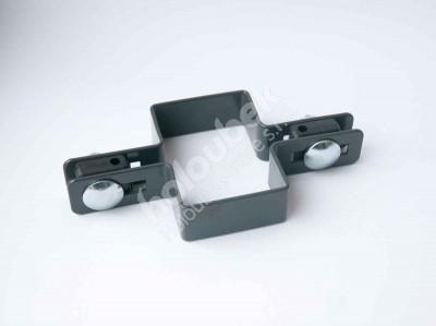 Príchytka zelená na sloup 60x40 mm priebežná - kopie - Příchytka antracit na sloup 60x40 mm průběžná