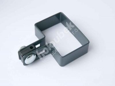 Prichytka pozinkovaná na stĺp 60x40 mm koncová - kopie - Příchytka antracitová na sloup 60x40 mm koncová