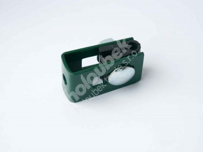 Príchytka zelená na sloup 60x40 mm priebežná - kopie - kopie - kopie - Úchyt panelu na sloupek zelený