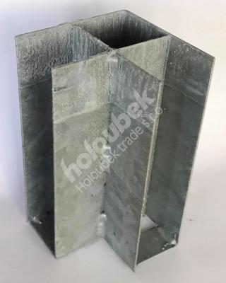 Pätka železná rohová 150x300 mm   - Rohová patka 150x300 mm