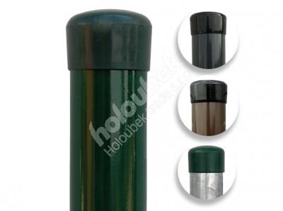 Plotový stĺpik zelený priemer 48 mm, výška 300 cm - Plotový sloupek průměr 48 mm, výška 300 cm, různé barvy