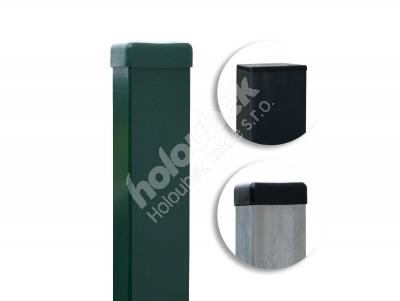 Plotový stĺpik poplastovaný 60x40 mm antracit výška 250cm - Plotový sloupek 60x40 mm výška 260 cm, různé barvy