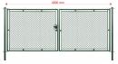 Brána STANDARD XL 100 x šírka 400 cm systém FAB