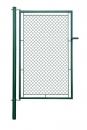Bránka jednokrídlové záhradné výška 150 x 100 cm zelená na príchytky