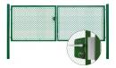 Brána záhradné dvojkrídlové výška 100 x 450 cm zelená na FAB Exklusiv