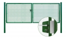 Brána záhradné dvojkrídlové výška 160 x 400 cm zelená na FAB Exklusiv