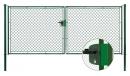 Brána záhradné dvojkrídlové výška 125×360 cm zelená na FAB