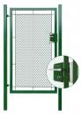 Bránka jednokrídlové záhradná výška 125 x 100 cm zelená na FAB exklusiv - kopie