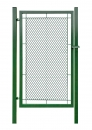 Bránka jednokrídlové záhradné výška 100 x 100 cm zelená na príchytky exklusiv - kopie