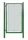Bránka jednokrídlové záhradné výška 150 x 100 cm zelená na príchytky exklusiv - kopie